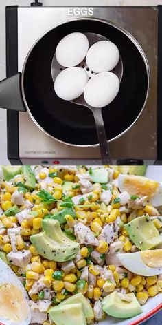 Delicious Chicken Avocado Corn Salad recipe that's loaded with flavor and texture, tossed in with a delicious and tangy maple lime dressing. An easy chicken salad recipe that's perfect as a side dish or served on its own. Corn Avocado Salad, Avocado Salad Recipes, Chicken Salad Recipes, Healthy Salad Recipes, Chicken Salad With Avocado, Salad Chicken, Keto Chicken, Rotisserie Chicken, Grilled Chicken