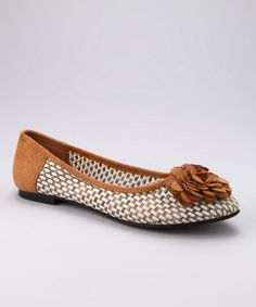 Take a look at this Camel Mango Flat by Henry Ferrera on #zulily today!