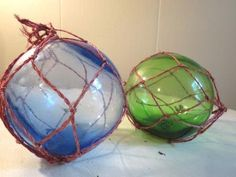 Vintage Hand Blown Glass Fishing Floats by SouthernBellaVintage, $40.00
