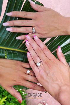 www.engagejeweler.com or visit the Engage app, to start designing your dream engagement ring! #engagementring #diamondring #diamond #bridaljewelry #weddingjewelry #proposalplanning #weddingplanning #engagementinspiration #bestfriendgoals #engaged #style #womensstyle #womensfashion #womensrings #jewelry #goldrings #whitegold #rosegold #yellowgold #platinum #ringdesign #ringsetting #diamondshape #emeraldcut #ovaldiamond #rounddiamond #solitairering #haloring Oval Diamond, Diamond Shapes, Round Diamonds, Design Your Engagement Ring, Dream Engagement Rings, Halo Rings, Solitaire Ring, Wedding Jewelry, Wedding Rings