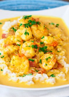 I have never tried Coconut Shrimp curry, but this looks extremely good! Coconut Shrimp Curry – Jo invites you to try this amazing recipe for this tasty and flavorful coconut shrimp curry, comfort food at its finest. Fish Recipes, Seafood Recipes, Indian Food Recipes, Asian Recipes, Cooking Recipes, Healthy Recipes, Turkish Recipes, Indian Shrimp Recipes, Shrimp Dinner Recipes