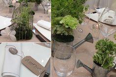 Mariage Nature - Décorations d'ambiance table mariage #pots de culture