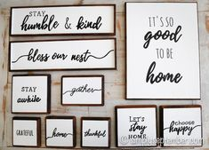 farmhouse signs and introducing simply september shop, farmhouse signs, farmhouse sign, farmhouse, farmhouse decor, diy farmhouse decor, simply september shop, etsy shop, etsy, wood farmhouse signs, wood signs, it's so good to be home, stay awhile, bless our nest, stay humble & kind, grateful, home, thankful, gather, let's stay home, choose happy