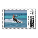 Awesome kitesurfing postage stamps
