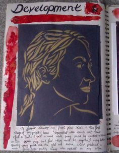 Making stencils to develop final piece ideas, for my GCSE Art exam sketchbook.