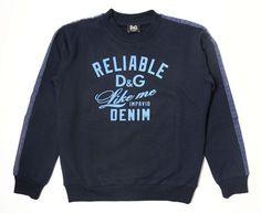 D&G JUNIOR Boys' Cotton Long Sleeve Shirt, Children's Sweatshirt, Size 10, NEW