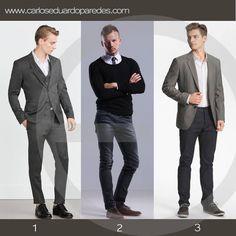 ¿Aun estas pensando que vestir hoy para el trabajo? Te comparto estas recomendaciones. ¿Cuál prefieres? ¿1,2 ó 3?