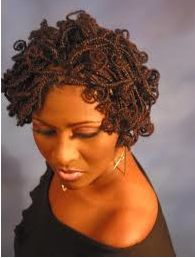 Twists on Medium Natural Black Hair