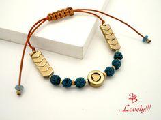 Blue Boho Bracelet Minimal Bracelet Blue Stone by 2BJewelry