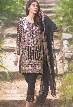 Mina Hasan Embroidered Chiffon Collection - 09