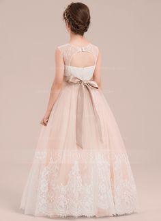 76cbe11539b Amazon.com  Miama Ivory Lace Tulle Straps Wedding Flower Girl Dress ...