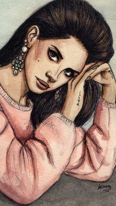 Lana Del Rey #LDR #art by Helen Green