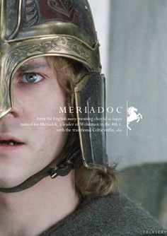 Meriadoc: from the English merry meaning cheerful or happy. Named for Meriadek, a leader of Welshmen in the 4th century. With the traditional Celtic suffix of -doc.