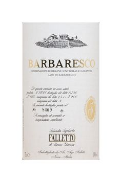 6 Bottles of 2008 Barbaresco Asili, Bruno Giacosa, £750.00