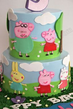 1000 Images About Peppa Pig Cakes On Pinterest Peppa