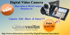 Hi-Def camcorder for those people who want a high level digital video camera with specific features (720P, HDMI, 5X Optical). Browse Chinavasion.com to buy it at a direct from the factory budget price.  http://www.chinavasion.com/china/wholesale/Digital_Cameras-Camcorders/