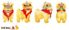 lion dance furball