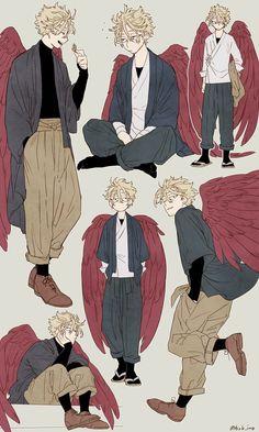 mha hawks x dabi \ mha hawks & mha hawks wallpaper & mha hawks x dabi & mha hawks funny & mha hawks x fuyumi & mha hawks fanart & mha hawks manga & mha hawks cute M Anime, Anime Guys, Anime Art, Character Concept, Character Art, Boy Art, Drawing Poses, Art Reference Poses, My Hero Academia Manga
