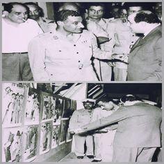 الزعيم جمال عبد الناصر مع الأخوين  علي و مصطفي امين