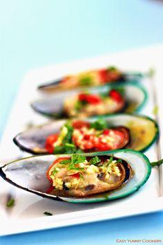 Oven Baked Garlic Butter Mussels