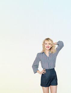 Emma Stone for Live Magazine; March 2014