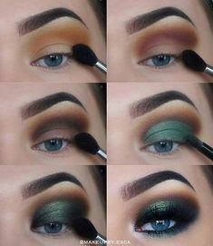 Drei wesentliche Make-up-Tipps: Lidschatten – Dress Models # three # green eyeshadow looks # eyeshadow # makeup tips # essential three essential makeup tips: eye shadow ignore the Makeup Hacks, Eye Makeup Tips, Makeup Inspo, Eyeshadow Makeup, Makeup Art, Makeup Inspiration, Beauty Makeup, Makeup Ideas, Makeup Products