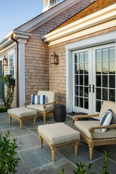 Just beyond the French doors exists a private patio, a luxurious option for guests to enjoy their very own outdoor retreat. #HGTVDreamHome