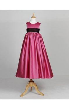 Lovely Sleeveless Satin Wedding/Evening Flower Girl Dress