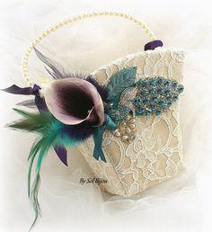 Almohada anillo de boda cesta de la muchacha de flor por SolBijou