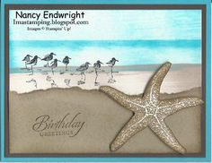 Imastamping in Indiana: Sandpipers on the Beach