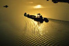 Golden Sunset - Dhaka, Mawa Highway, Munshigong, Bangladesh - #BeautifulBangladesh