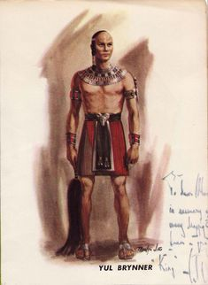 "Costume for Yul Brynner in ""Ten Commandments"""
