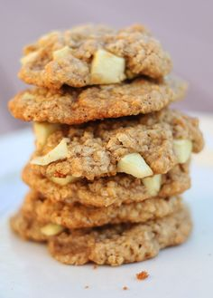 a different take on oatmeal raisin cookies- apple oatmeal cookies! have to try these sometime