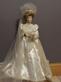 Franklin Mint Bridal Doll bought in the 70's. $160.00, via Etsy.