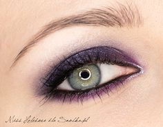 metallic purple smokey eye