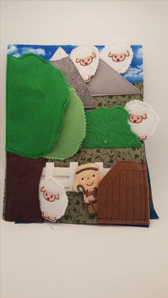 Joseph count the sheep page for Bible Story quiet book