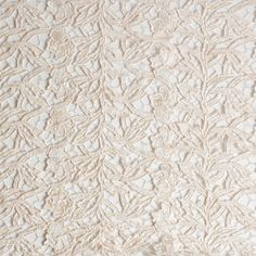 Italian Eggnog Floral Blended Polyester Guipure Lace Fabric by the Yard   Mood Fabrics