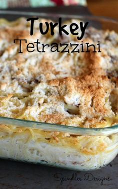 Turkey Tetrazzini. Great for left overs!! The Diary of a Real Housewife: Friday Favorites