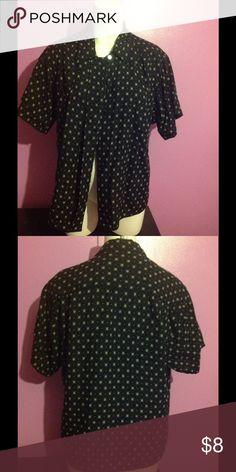 Jones New York Blouse Black & Tan Short Sleeve Blouse Jones New York Tops Blouses