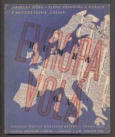 Zelenka - JEŽEK; JAROSLAV: EVROPA VOLÁ. - 1932. Slova Voskovec a Werich.