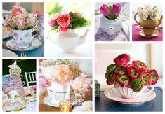 Tea floral centerpieces