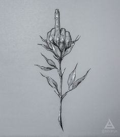 Fuck you rose sketch by @bth3run