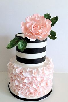 Striped Wedding Cakes | www.onefabday.com