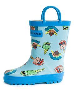 Children's Rubber Rain Boots, Ice Cream