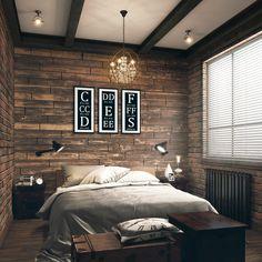 Cozy, coffee hued small bedroom
