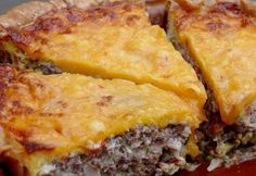 This Savory Cheeseburger Quiche is almost a twin to its counterpart, the cheeseburger.