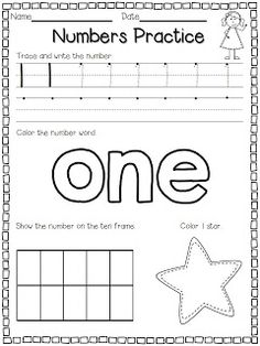Flying into First Grade: Numbers Practice FREEBIE! Morning work the first couple weeks?