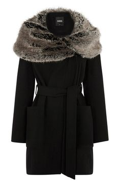 Abigail Faux Fur Collar Coat