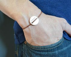 Sterling Disc Bracelet - Customize - Personalize - Hand Stamped - Slipknot on Etsy, $27.74 AUD