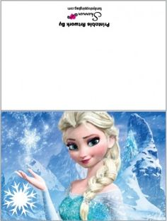 Amazing image regarding frozen birthday card printable